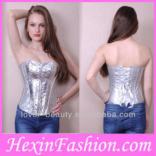 Newest Satin Wholesale Fashion Big Women Sexy Lingeries Corset