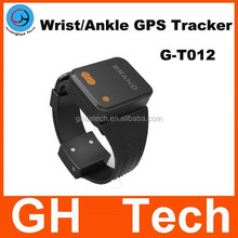GH Wrist Ankle GPS Tracker G-T012 with Wristband cut-off Alarm for Alzheimer prisoner parolee tracking gps online watch tracker