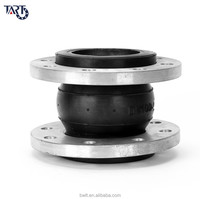 Rubber soft connection flexible coupling single ball expansion joint