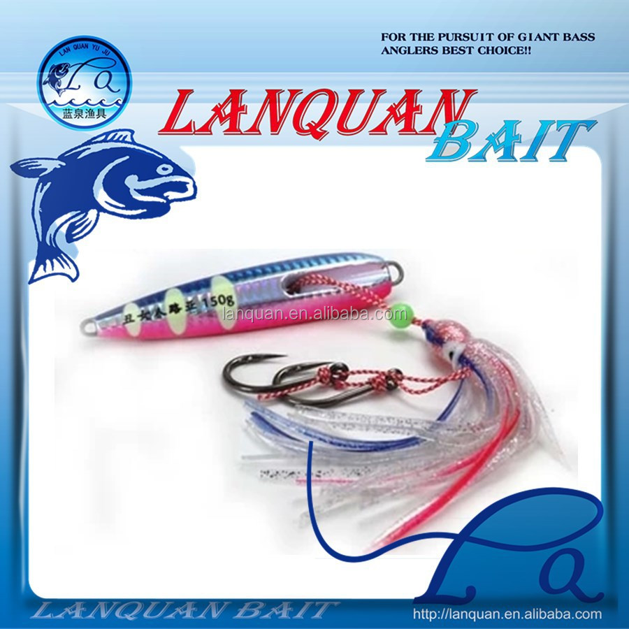 lanquan artificial skirt lure tied fish hook LEAD FISHING LURES - PHOTOEMISSION-4