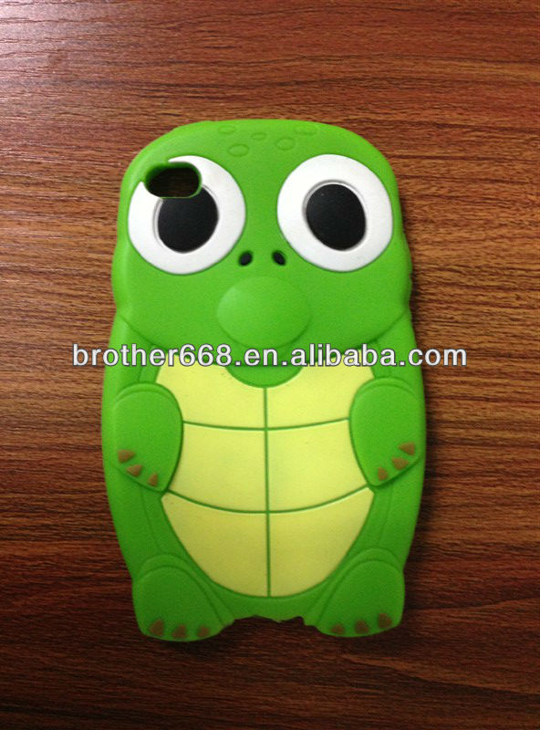 Popular customized animal best design high quality silicone phone case 2013 dongguan factory