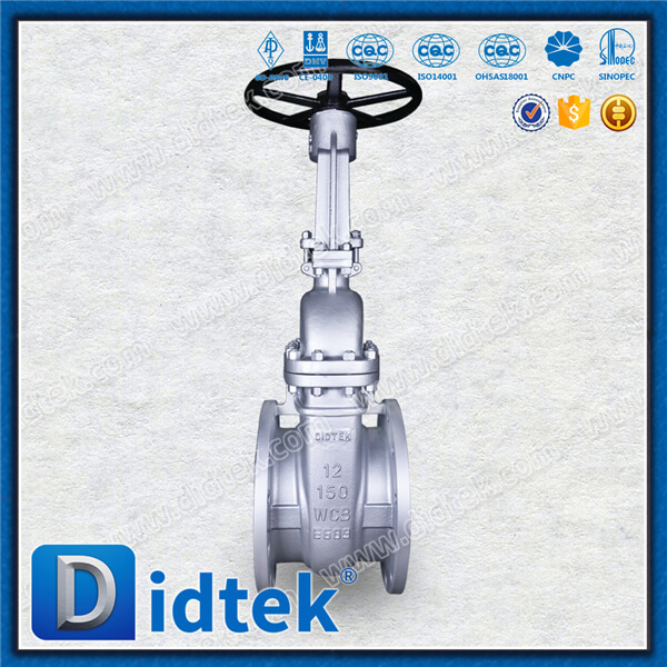 Didtek industrial Oil refining api 600 bb bolt bonnet flanged end cast steel flexible or solid wedge carbon steel gate valve