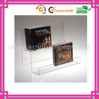 2 tiers desktop fashion creative acrylic bookshelf manufacturer