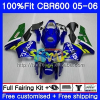 Injection For HONDA CBR600 RR 05 06 CBR600RR F5 05 06 Movistar Blue 12HM10 CBR 600RR F5 CBR600F5 CBR 600 RR 2005 2006 Fairing