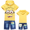 New Kids Clothes Sets Boy Minions Suits Children Clothing Set Boys T shirt Boys Jeans Suits With Despicable Me TS-193
