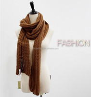 top quality ribbed knitted scarf cashmere scarf and shawl
