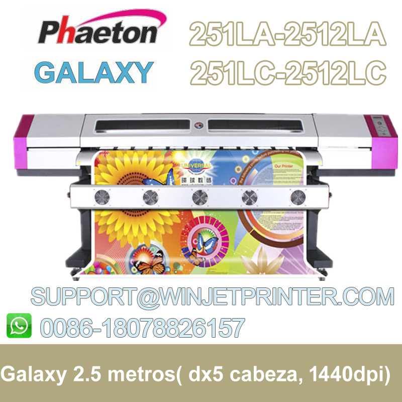 hot sale india Solvent eco plotter original dx5 printhead galaxy 2512LC