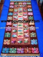 Woven Wool Tapestry / Woven wool Rug / Woven wool Runner / Woven wool Wall Decor 5x2 Feet Peru