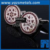 custom made flower enamel cufflink, custom metal cufflink with design