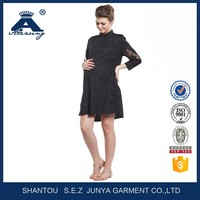 Fashion Korean Style Black Soft Maternity Dress For Sale