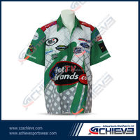sublimated button up team race shirts