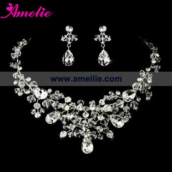 Crystal and rhinestone beaded beaded necklace sets