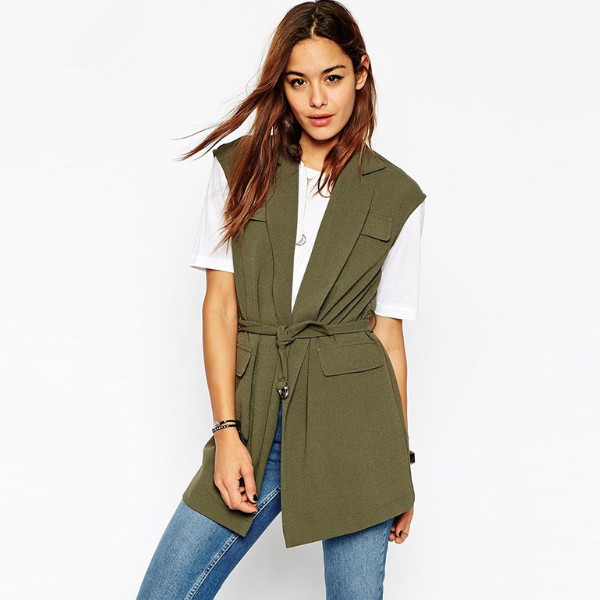 MS66370W European fashion new women trench coats military clothing