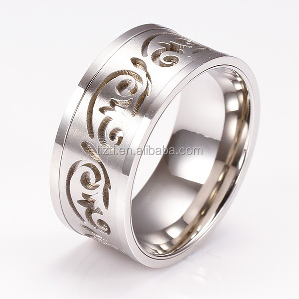R3403 china Anniversary stainless steel lover ring 316l rings custom stainless steel gear rings
