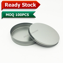 Mint Round Metal Material plain tin cans