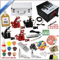 high quality professional tattoo machine kit/ completely tattoo accessories with 4 guns in hot sale