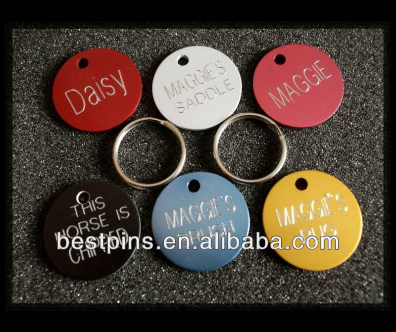 Horse Pony Rug/Bridle Name 25mm Coloured Disc Tag
