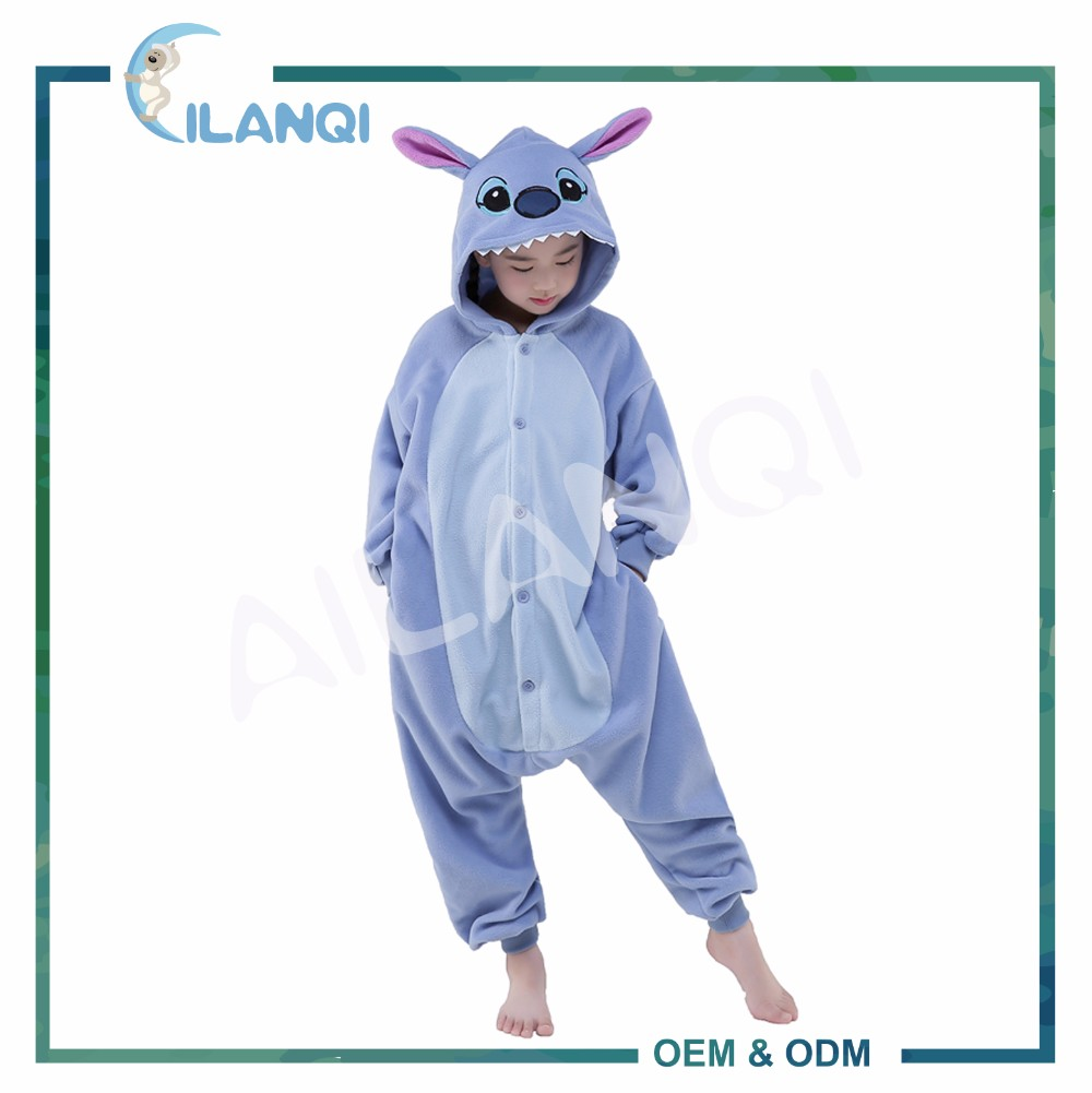 ALQ-C020 Winter cosplay costume sleepwear kids animal onesie pyjamas