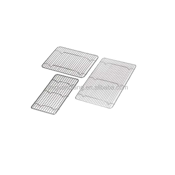 Rectangular Chrome Plated Wire Pan Grate Grid Cooling Rack