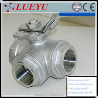Stainless Steel L Type 3 Way Ball Valve Manufacture