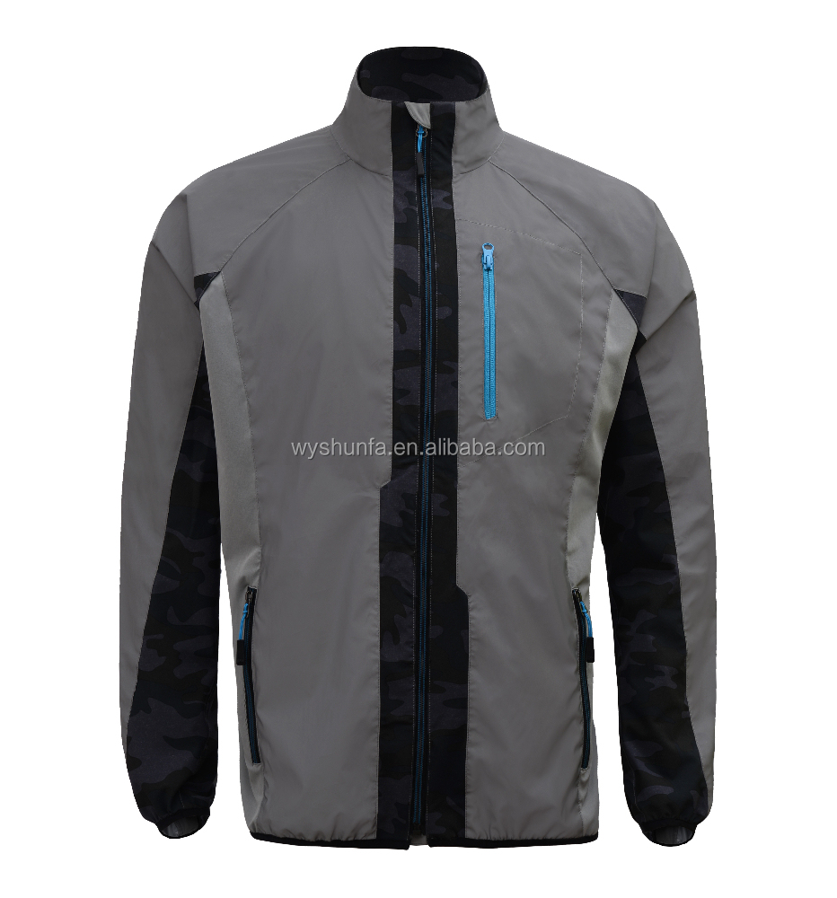 cycling clothing sport coat with high visibility material latest design hot sale in 2015