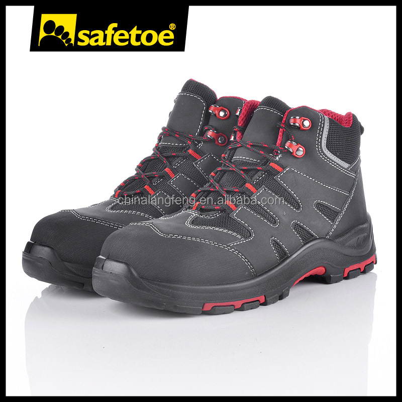 New design leather steel toe safety shoes with steel toe