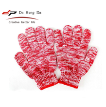 Anti-skid gloves and wear-resistant blended yarn color gloves