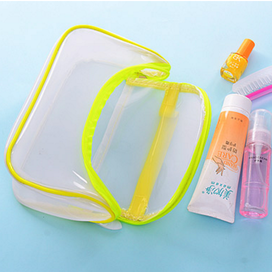 Hot Sale Transparent PVC Bags cosmetic bags with zipper For <strong>Travel</strong>