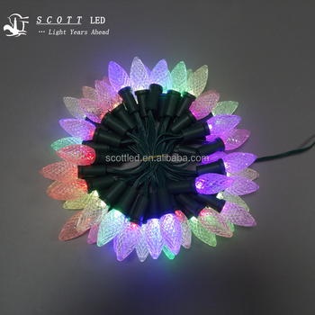 50pcs per string c7/c9 IP68 WS2811 F8RGB full color led christmas lights
