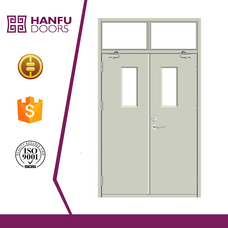 Single luxury durable modern entrance fire rated pocket door with stainless