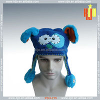 newest style customized soft knnit animal hat for winter with pump