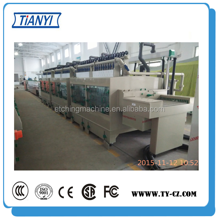 Double-sided manual etching machine, PCB production machinery,Chemical etching machine