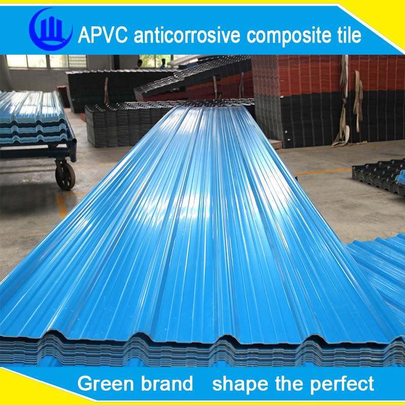 UV protection Lightweight Composite Plastic roofing materials/Synthetic Resin roof tile/PVC plastic roof tile