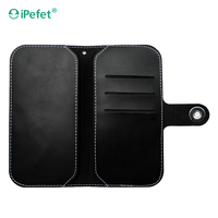 Mobile Phone Accessories Wallet Universal Leather Flip Cover Case For Smartphone