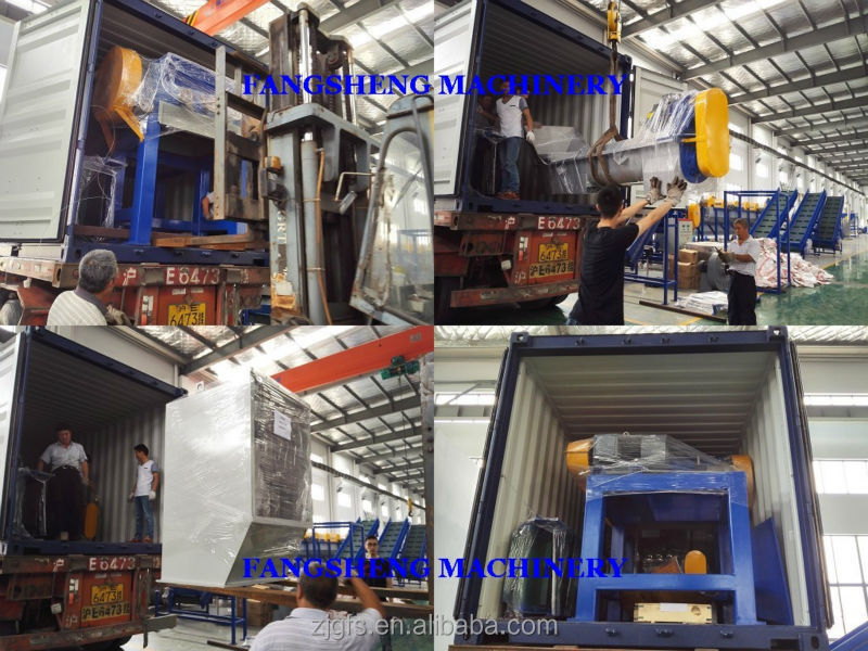 Fangsheng new condition recycling machines plastic shredder/scrap plastic wood pipe metal double shaft shredding machine
