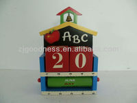 Good Sale Decorative Table Pieces Wood Calendar Wooden Desktop Calendar