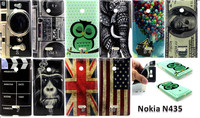 New camera dollars flag printing Flower TPU Case Cover for Nokia Lumia 435
