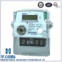 High accuracy of IEC standards single-phase two-wire digital electric meter hack single Phase Multifunction Kwh Energy Meter