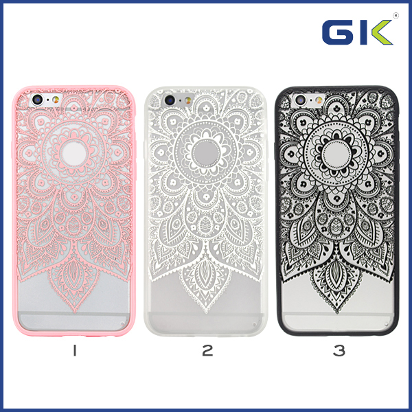 [GGIT] New Design Frosted With 3D Relief Pattern 2 in 1 Combo Case For IPhone 6 TPU Cover