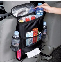 Car Back Seat Organizer Auto Seat /Multi-Pocket Travel Storage Bag Insulated Car Seat Back Drinks Holder Cooler