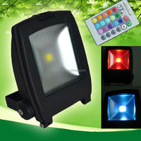 High power cob color changing outdoor led flood light 100w