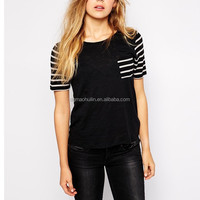 OEM China apparel manufacturer wholesale clothes ladies t shirt with pocket