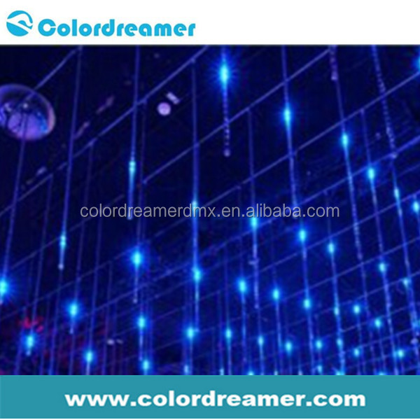 Color changing club ceiling hanging led rgb dmx 3d tube for night club