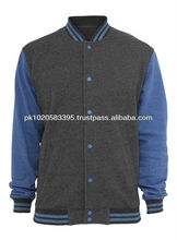 Custom made Varsity Jacket/letterman jacket/baseball jacket navy blue charcoal