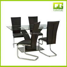Modern dining room furniture MDF glass dining table dinning table set