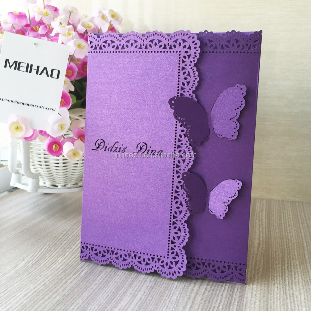 MEIHAO Classic Style Wedding Invitations Cards Custom party greeting cards home decoration baby shower greeting cards free ship