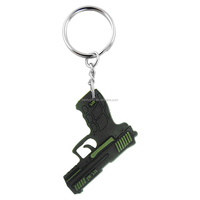 Gun shapes pvc keychain custom hot sales keychain for promotion