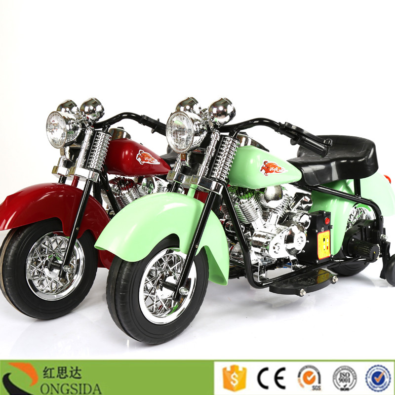 China Manuafacturer Hongsida 4 Wheel Kids Ride On Toy Motorbike 6V Battery Powered Electric Motorcycle for Baby