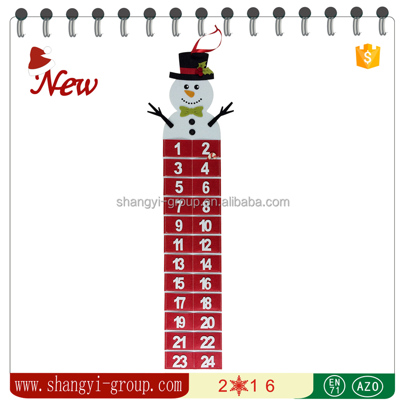 XM12-02 Christmas hang decorations and ornaments hanging advent calendar