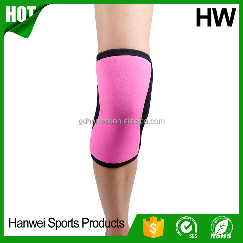 waterproof colorful neoprene knee sleeve for female